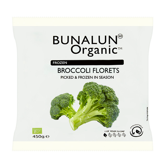 Bunalun Ireland Oraganic Broccoli 12 x 250 grams - 2071MALL