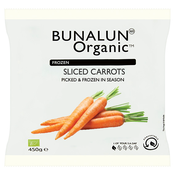 Bunalun Ireland Organic Carrots 12 x 450 grams - 2071MALL