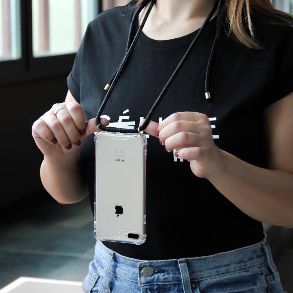 Lookabe - Necklace Clear Case + Black Cord - iPhone 11 Pro Max LOO-028 Black, LOO-028 - 2071MALL