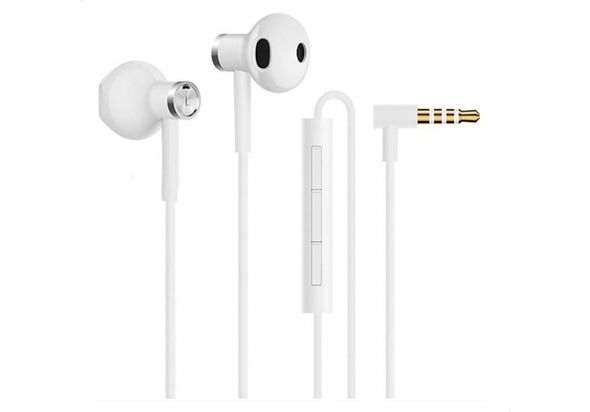 Mi Dual Driver Earphones - White, ZBW4406TY - 2071MALL