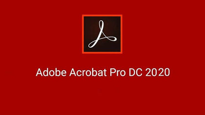 Adobe Acrobat Pro 2020 Activation Serial Number For 1 Windows - English Red - Digital Code Only - 2071MALL