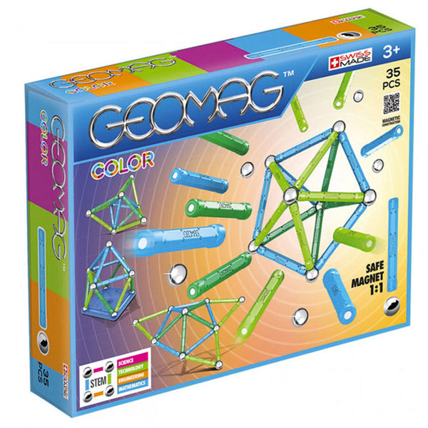 Geomag Color Magnetic Building Set 35-Pcs Construction Toy For Kids Aged 7 Years And Up - 2071MALL
