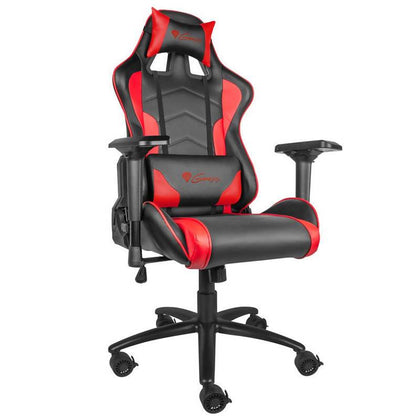 Genesis Gaming Chair Nitro 880 Executive Ergonomic Adjustable Swivel Task Chair with Headrest, Lumbar Support and 4D Armsets  - Artificial leather - Black-Red - 2071MALL