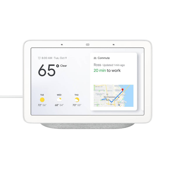 Google Nest Hub with Google Assistant (Chalk / Charcoal)