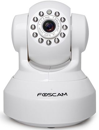 Foscam Wireless Ip Pan/Tilt Camera Hd -Plug & Play- Wps-2Way Audio - White, FC-FI9816PW - 2071MALL