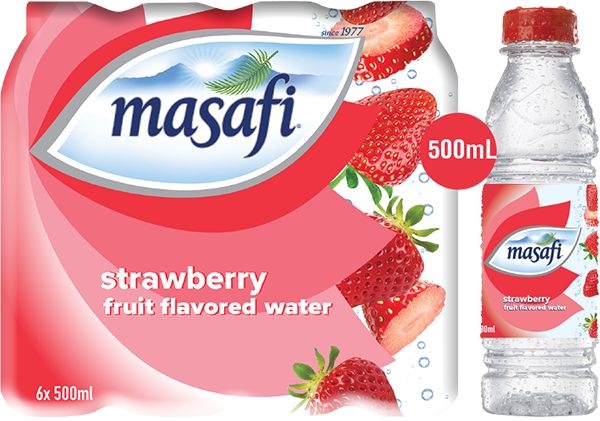 MASAFI Mineral Water 500ml (Strawberry Flavor) - 2071MALL