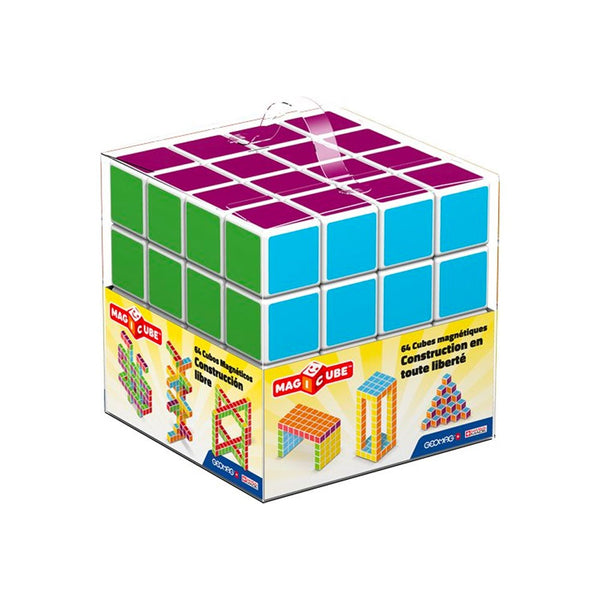 Geomag Magicube Kids Free Building 64-Pcs Construction Toy Set For Kids Aged 7 Years And Up - 2071MALL