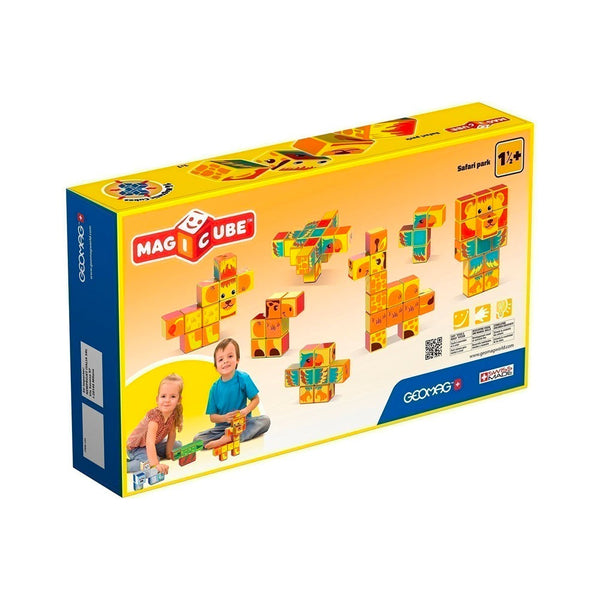 Safari Park Building Set for Kids Geomag Magicube Games for Kids - 2071MALL