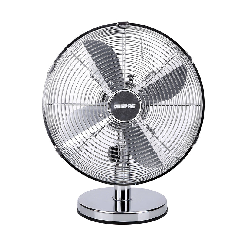 "Geepas 12"" Metal Table Fan Oscilation 3 Speed 1x3 - Black, GF9610 - 2071MALL"