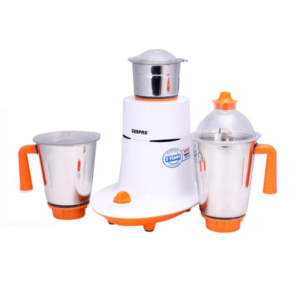 Geepas Mixer Grinder With 3 Stainless Steel Jars 1X2 - White, GSB5080