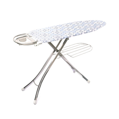 Royalford RF365IBL 127x46 cm Ironing Board with Steam Iron Rest, Heat Resistant, Contemporary Lightweight Iron Board with Adjustable Height - 2071MALL