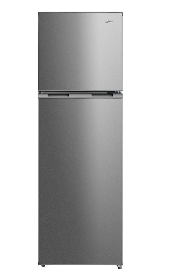 Midea 330L Double Door Ref No Frost Glass Shelves Silver HD334FWENS - 2071MALL