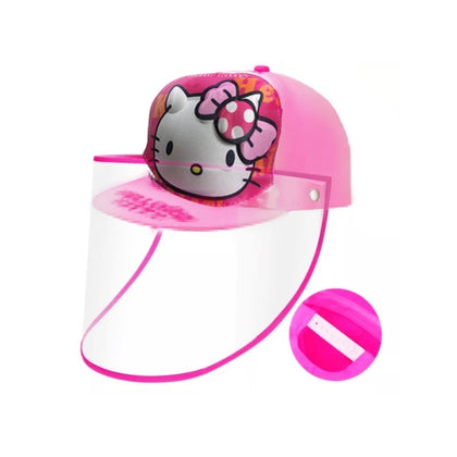 HELLO KITTY Baseball Kids Anti-spitting Protective Cover Cap (Pink) - 2071MALL
