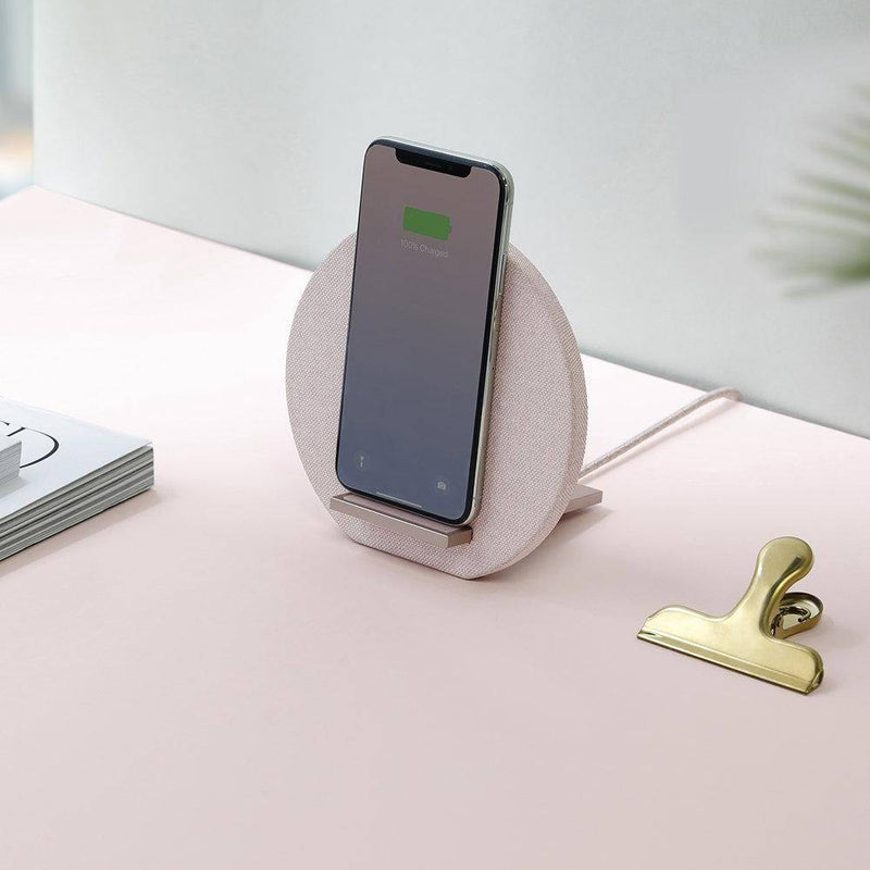 Native Union - Dock Wireless Stand Rose - Rose , NU-DOCK-WL-FB-ROSE - 2071MALL