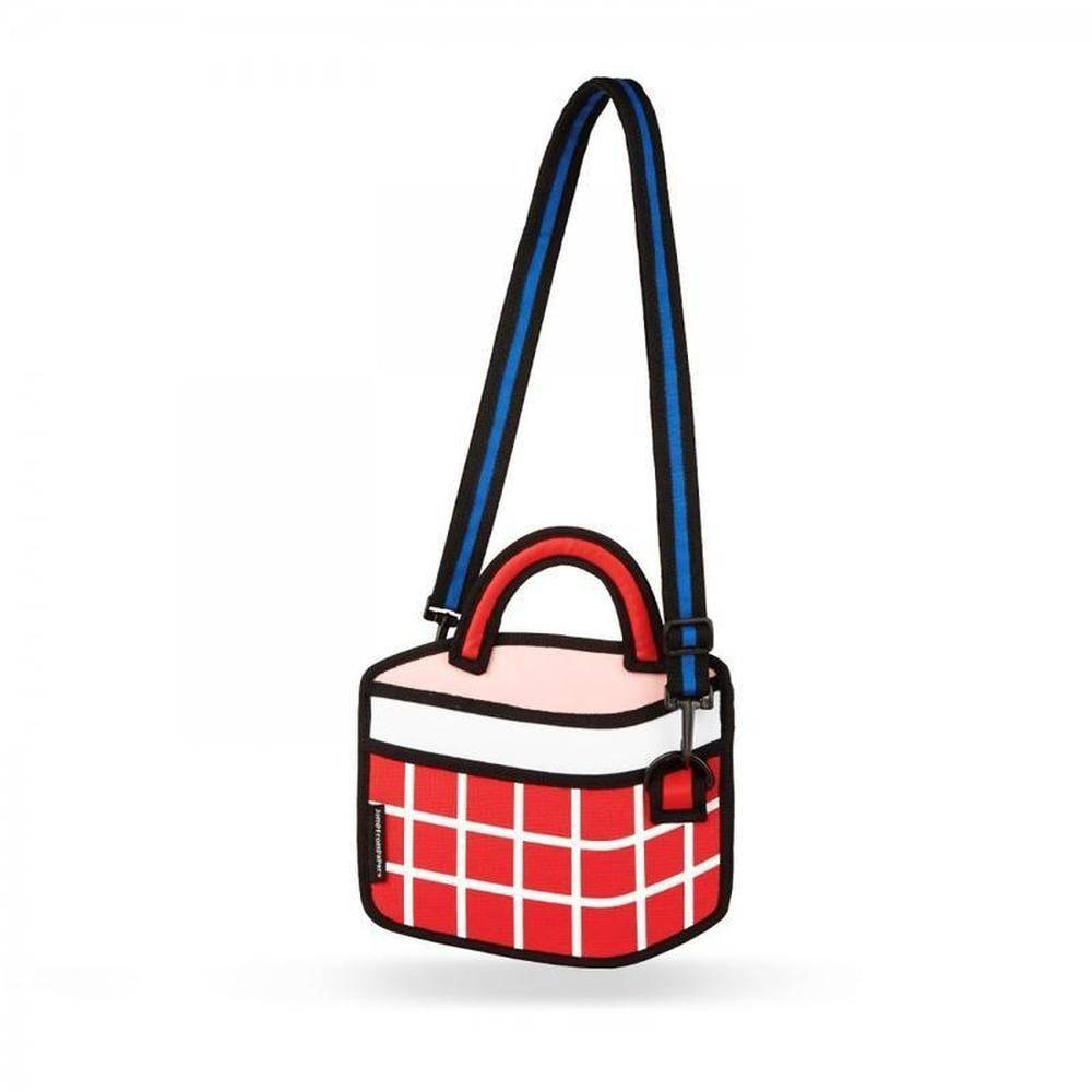 Jump From Paper - Checked Handbag - Red 6.3 inch, JFP-106 - 2071MALL
