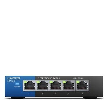 Linksys 5-Port Business Desktop Gigabit Switch Black, LNK-LGS105-ME-RTL - 2071MALL