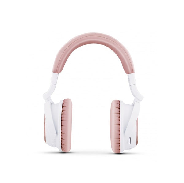 Naztech i9 Bluetooth ANC Headphones - White + Rose Gold - 2071MALL