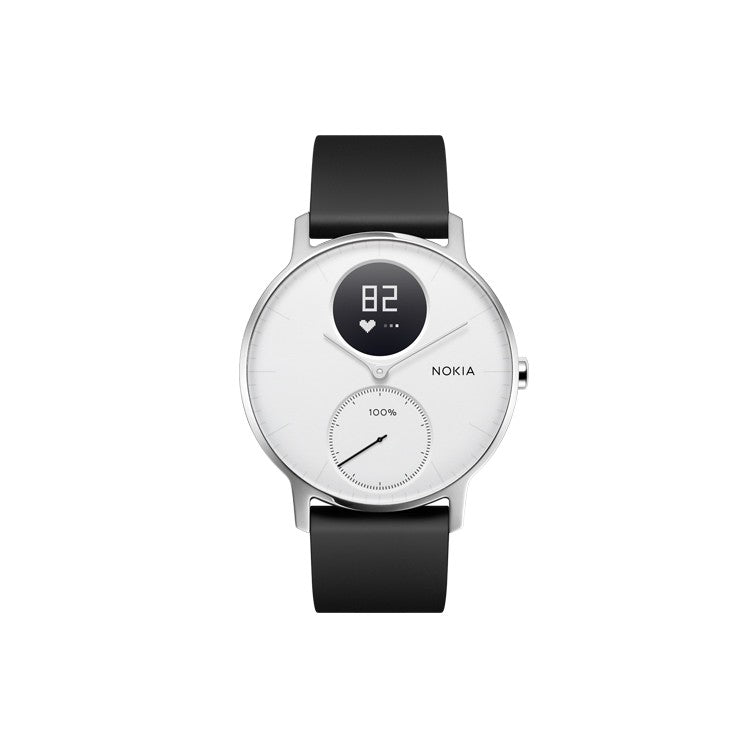 Withings Nokia Steel HR Hybrid Smartwatch 36mm - White - 2071MALL