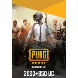PUBG Mobile 3000 + 850 UC US- Instant Delivery (Prepaid Only) - 2071MALL