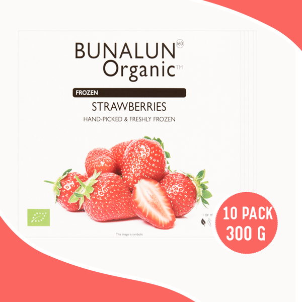 BUNALON Oraganic Strawberries 10 x 300 grams - 2071MALL