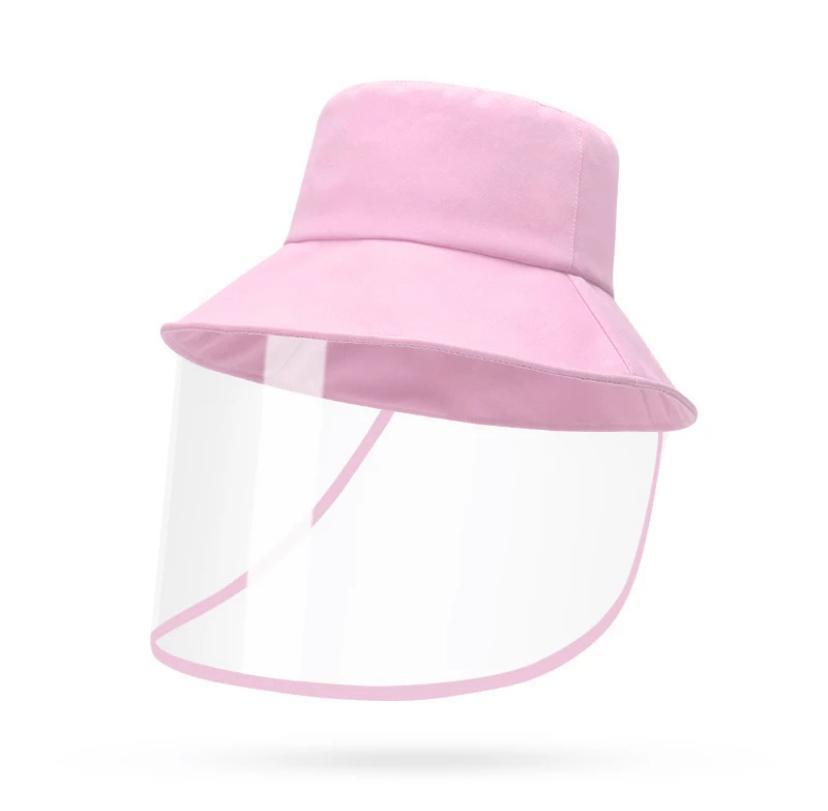 KIDS Transparent Disposable Plastic Protective Visor Hat/Face Shiled (Pink) - 2071MALL