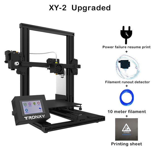 Tronxy XY-2 Fast Assembly Full metal 3D Printer with magnetic heat paper 3.5 Inches Touch Screen - 2071MALL