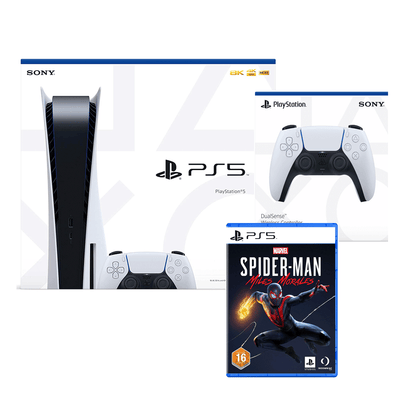 Sony Playstation 5 825gb Console Standard Edition (UAE Version) with  Free 1 Extra Controller + PS5 Spider-man bundle - 2071MALL