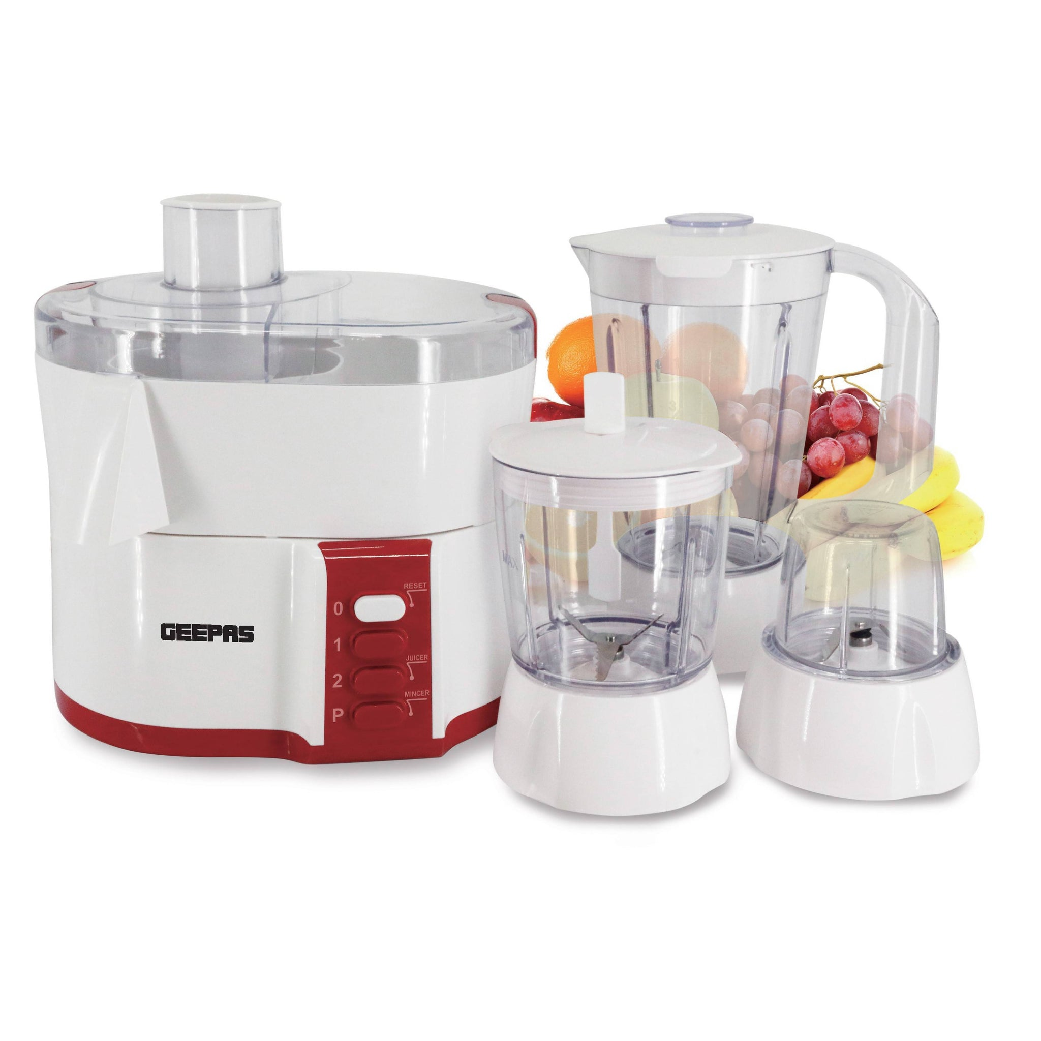 Geepas 4 In 1 Food Processor 2 Speed Function With Safety Lock 1x4 - White, GSB9890 - 2071MALL