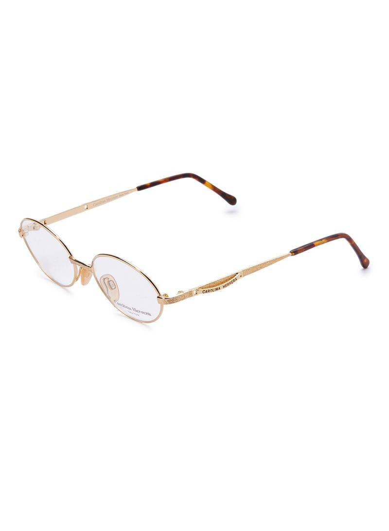 Carolina Herrera New York Frame For Unisex Gold Plated And Brown - CH716-GP656-49-17-135 - 2071MALL
