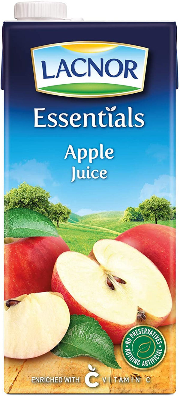 Lacnor Essentials Apple Juice - 1 Litre (Pack of 4) - 2071MALL