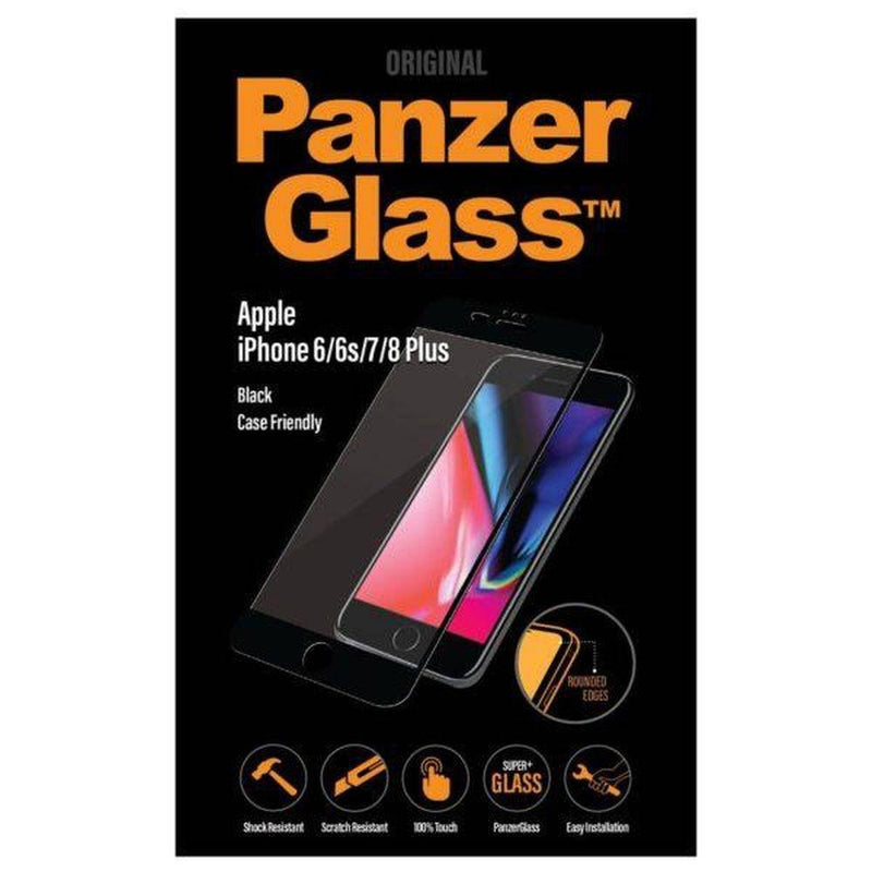 Panzerglass - Case Friendly Screen Protector - Jet Black / Black For Iphone 8/7/6S/6 Plus - Jet Black/Black, PNZ2619 - 2071MALL