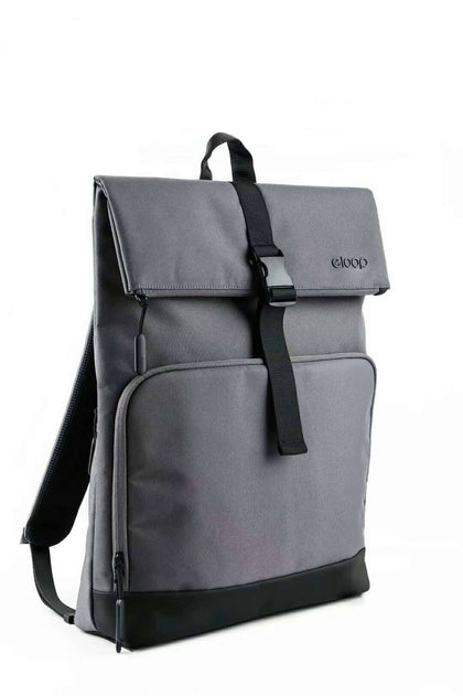 eloop City B2 Waterproof 15-inch Laptop Backpack Grey - 2071MALL
