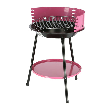 Royalford RF9411 BBQ Grill - Charcoal Grill, Portable Barbecue Rustless Round Grill with Ventilation Wall & High Grip Long Legs Ash Collector - 2071MALL