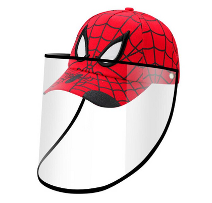 SPIDERMAN Baseball Kids Anti-spitting Protective Cover Cap (Red) - 2071MALL