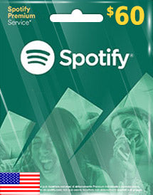 Spotify $60 US Dollar (USD) - Account details will be sent via email within 24 - 48 hours. Prepaid Only - 2071MALL