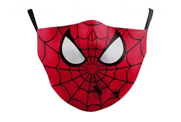 SPIDERMAN PM2.5 Adjustable Kids Face Mask With Pocket Filter (Red) - 2071MALL