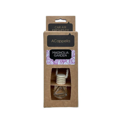 "Acappella CRAFT Pendant Car Air Freshener in glass bottle ""Magnolia Garden"" - 2071MALL"