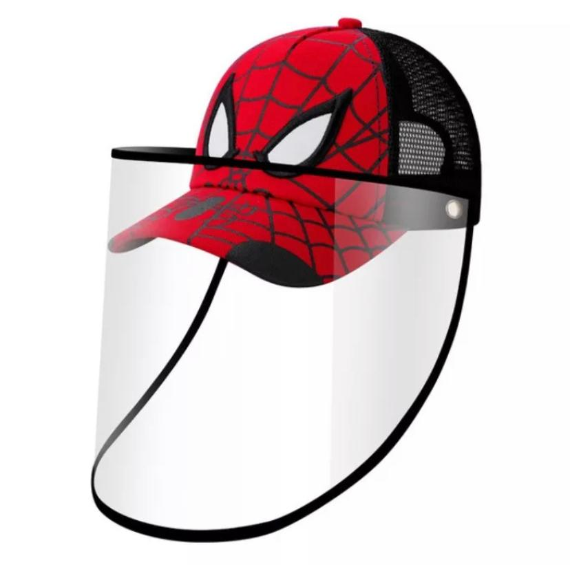 SPIDERMAN Baseball Kids Anti-spitting Protective Cover Cap (Red/Black) - 2071MALL