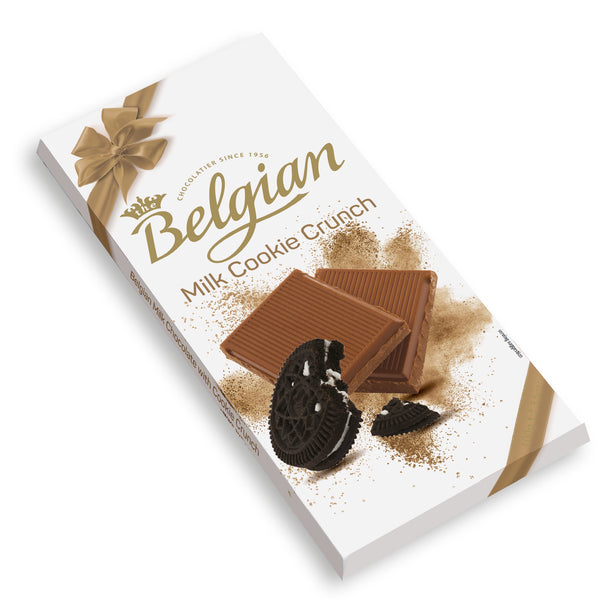 Belgian Milk Chocolate With Cookie Crunch 100g - 2071MALL