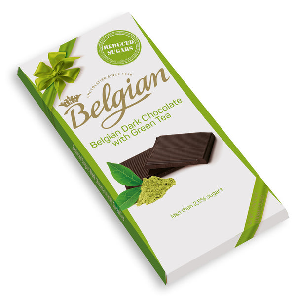 Belgian Nsa Dark Chocolate With Green Tea 100g - 2071MALL