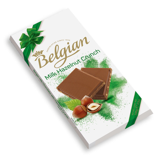 Belgian Milk With Hazelnut Crunch 100g - 2071MALL