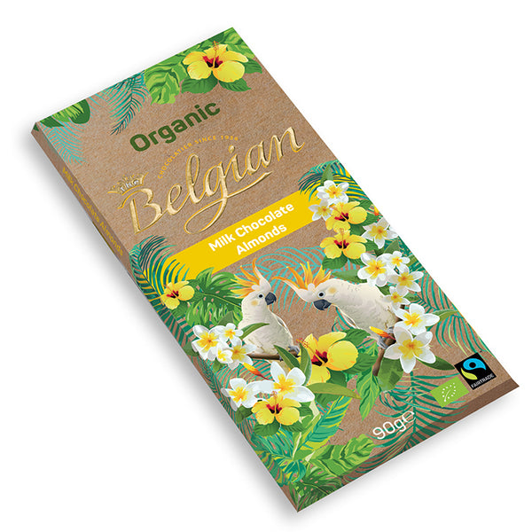 Belgian Organic Milk Chocolate With Almonds - 2071MALL