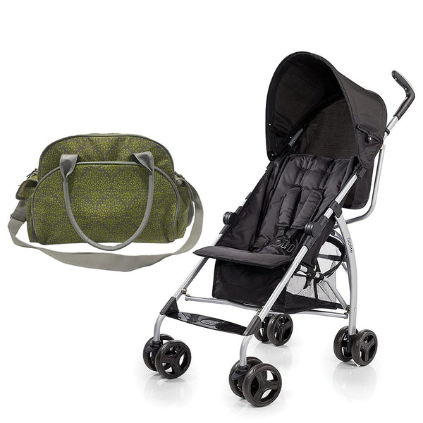 Summer Infant Summer Infant Changing Bag Limestone Berry  +  Go Lite Stroller - Black Jack , BG-SI78456-21820
