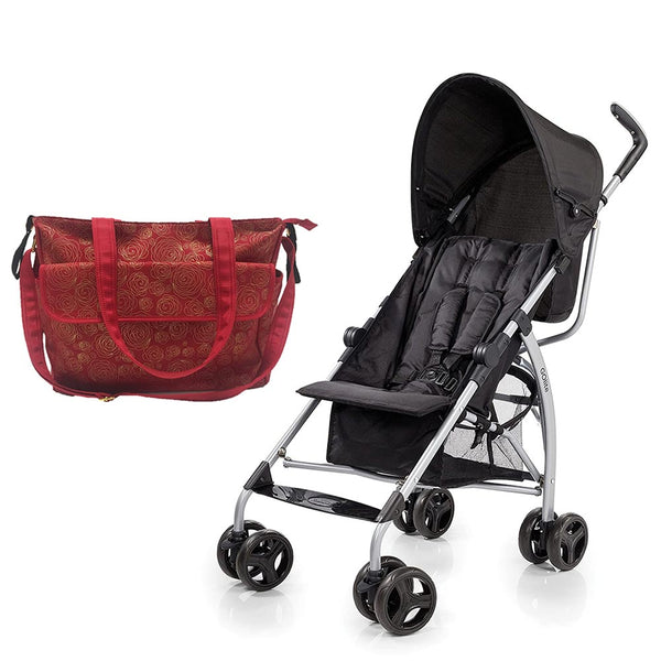 Summer Infant Summer Infant Messenger Changing Bag Red/Gold Swirl  +  Go Lite Stroller - Black Jack , BG-SI78646-21820 - 2071MALL