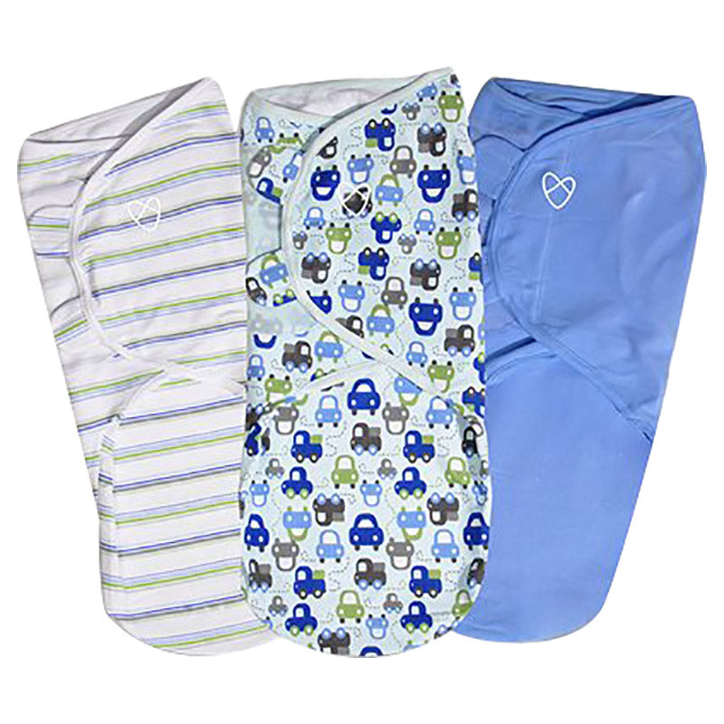 Summer Infant  SwaddleMe Original Swaddle From 3 - 6 Months,Graphic Car (3 PK) - 2071MALL