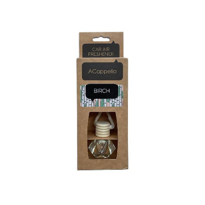 "Acappella CRAFT Pendant Car Air Freshener in glass bottle ""Birch"" - 2071MALL"