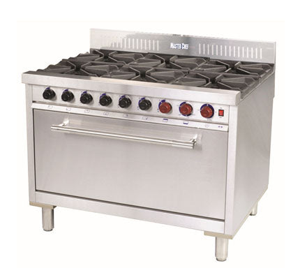 Master Chef Stainless Steel Commercial Type Cooker - 6 Burner Direct Ignition by Electric Igniter 11100x810x1000mm- Stainless, MHO-4461CN - 2071MALL