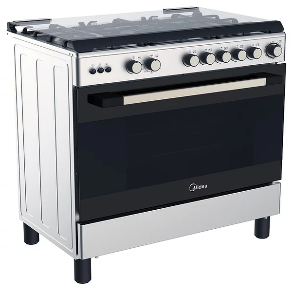 Midea 5 Burners Gas Cooker With Cast Iron Pan Support 115 Liter LME95030FFD - 2071MALL