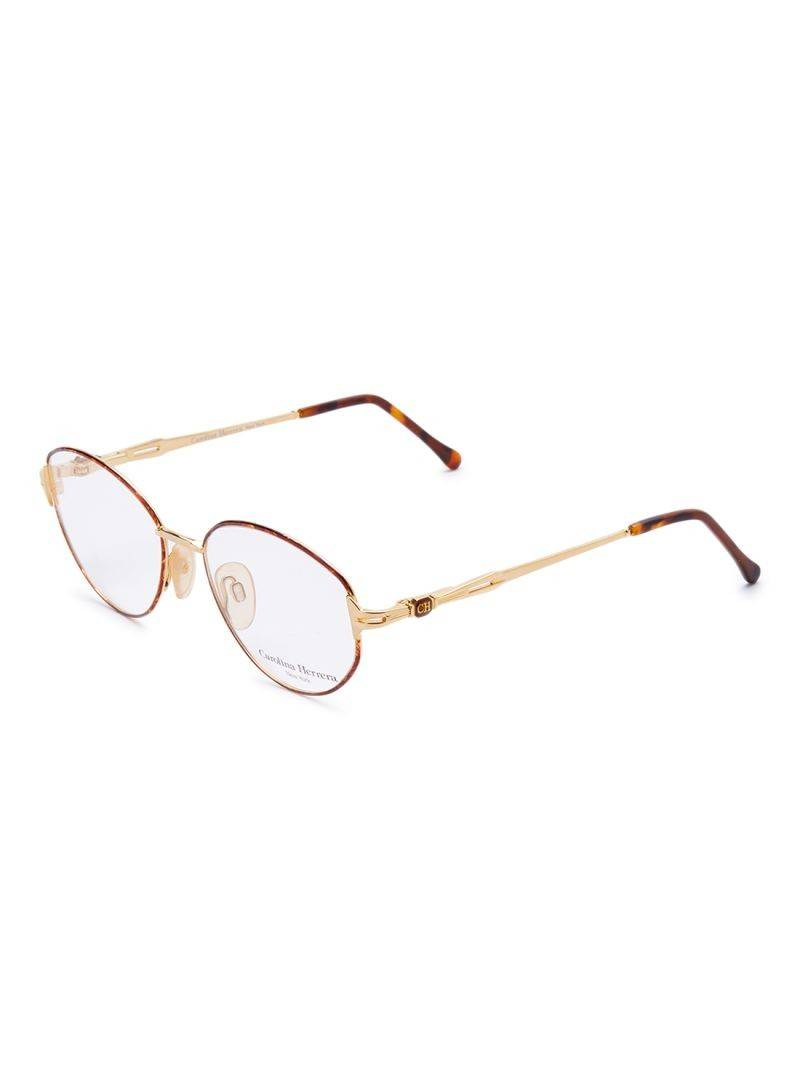Carolina Herrera New York Frame For Unisex Gold Plated Brown - CH707-GP605-53-17-130 - 2071MALL