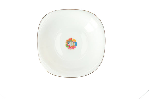 Royalford RF7874 Opal Imperial Gold Serving Plate, 8.5 Inch